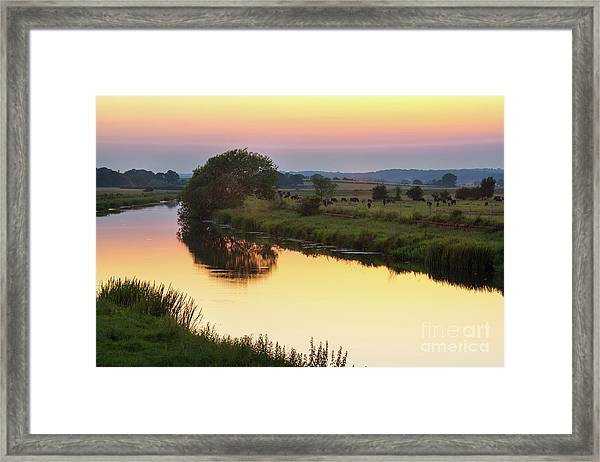 Sunset On The River Framed Print