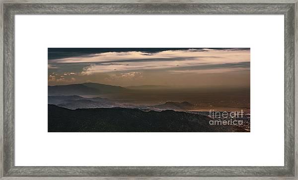 Sunset On The Sandias Framed Print