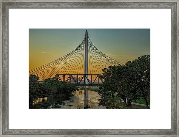 Sunset On The Trinity Framed Print