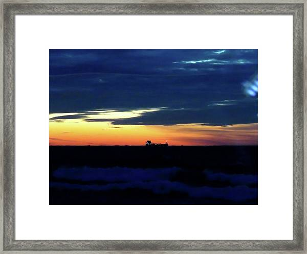 Sunset On Winter Solstice Eve Framed Print