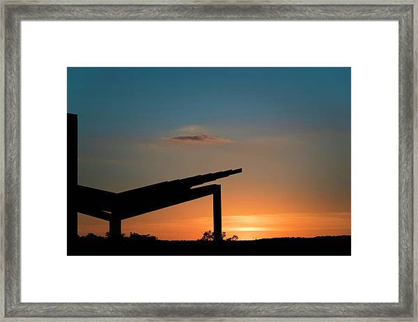 Sunset Over Austin City Limits Festival Week One 2017 Framed Print