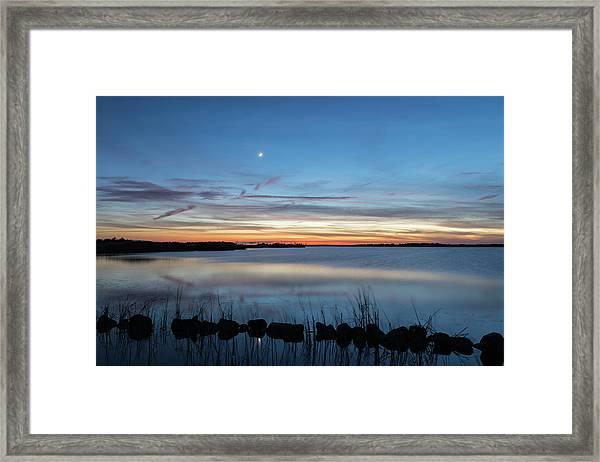Sunset Over Back Bay Framed Print