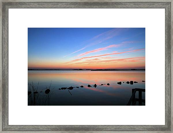 Sunset Over Back Bay National Wildlife Refuge Framed Print