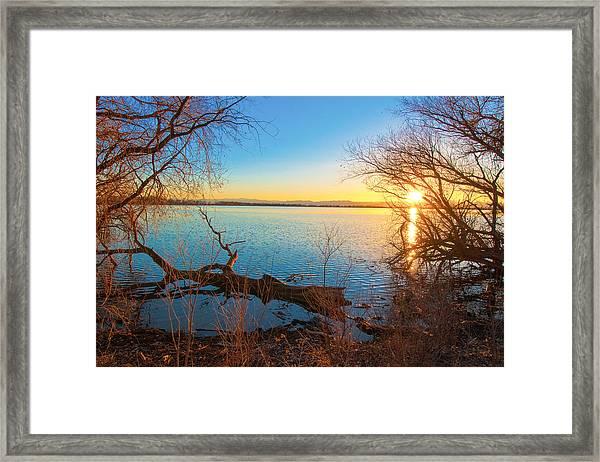 Sunset Over Barr Lake Framed Print