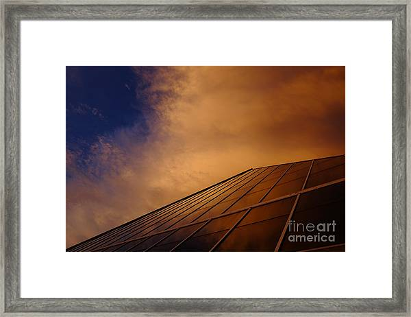 Sunset Over Bass Pro Shop In Memphis Tennessee Framed Print
