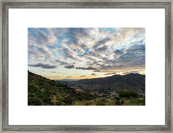 Sunset Over El Monte Valley Framed Print