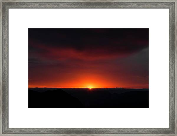 Sunset Over Grand Canyon Framed Print