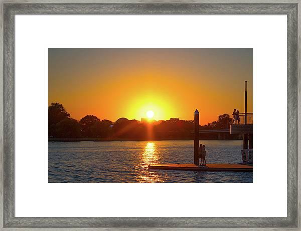 Sunset Over Hains Point Framed Print