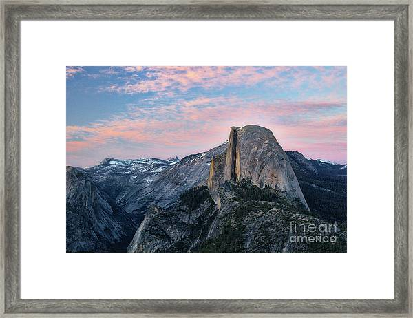 Sunset Over Half Dome Framed Print