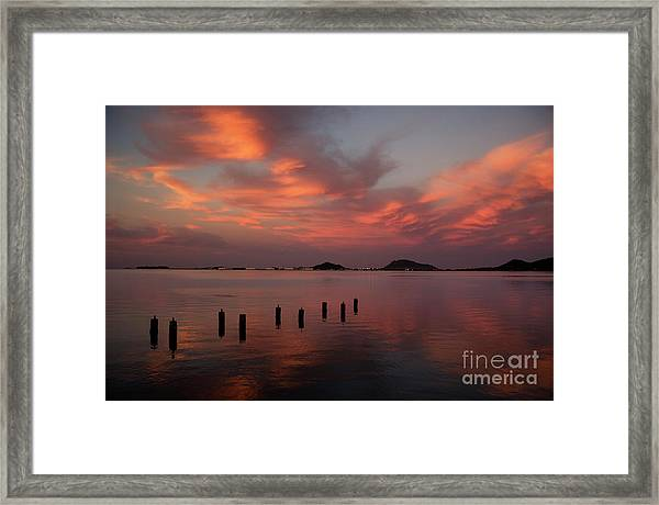 Sunset Over Kaneohe Bay Framed Print