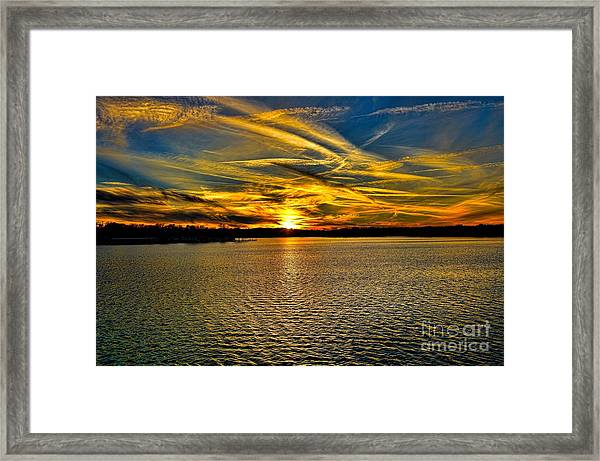Sunset Over Lake Palestine Framed Print