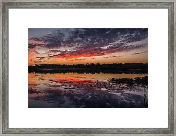Sunset Over Little Sugarloaf Framed Print