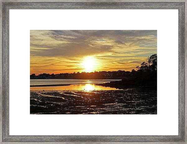Sunset Over Lynch Park Beverly Ma Framed Print
