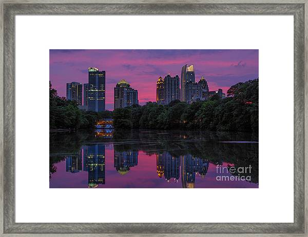 Sunset Over Midtown Framed Print