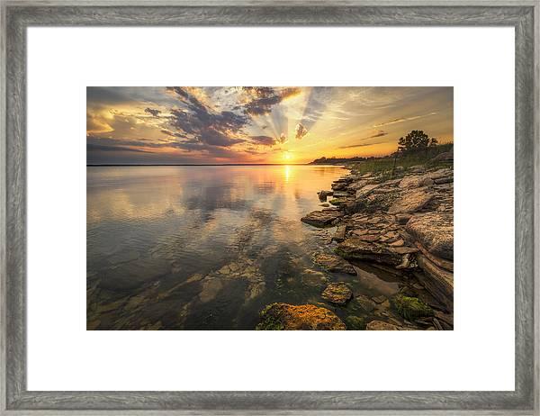 Sunset Over Milford Lake Framed Print