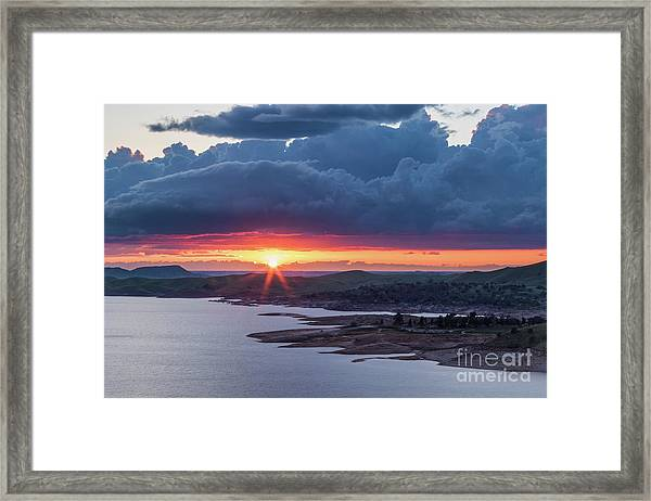 Sunset Over Millerton Lake  Framed Print