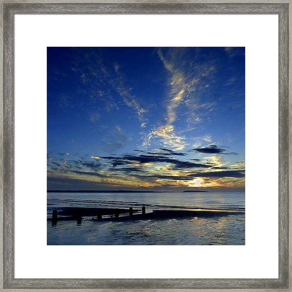 Sunset Over Puffin Island Framed Print