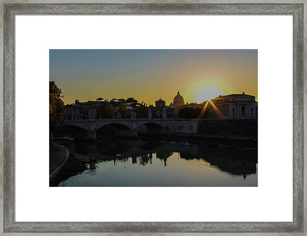 Sunset Over St Peters Framed Print