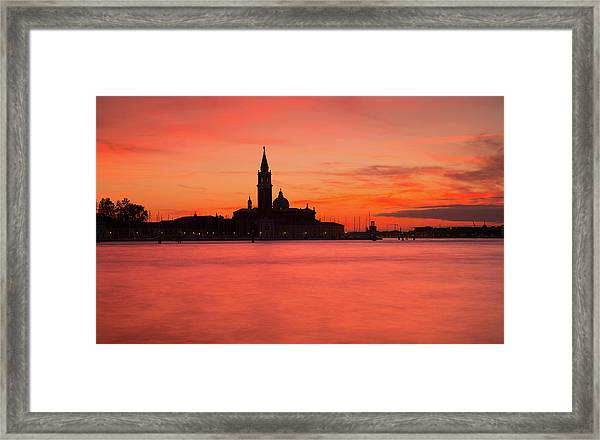 Sunset Over The Grand Canal, Venice, Framed Print