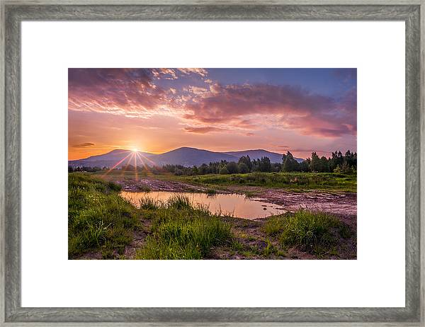 Sunrise Over The Little Beskids Framed Print