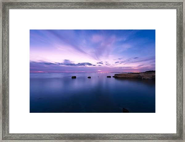 Sunset Over The Sicilian Sea Framed Print
