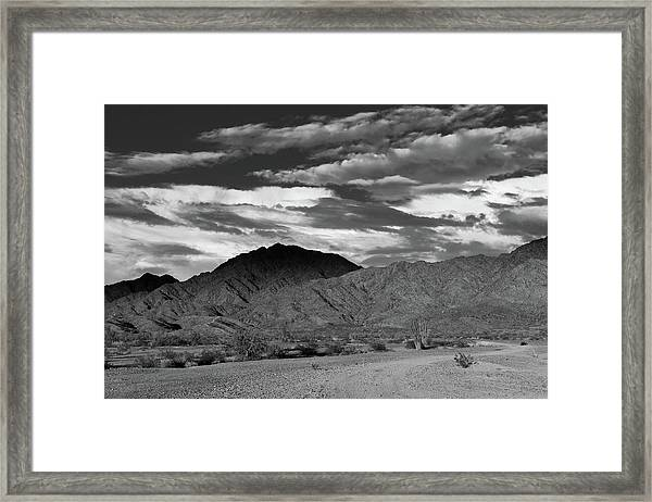 Sunset Over Yuma Mountain Framed Print
