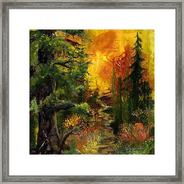 Sunset Path Framed Print
