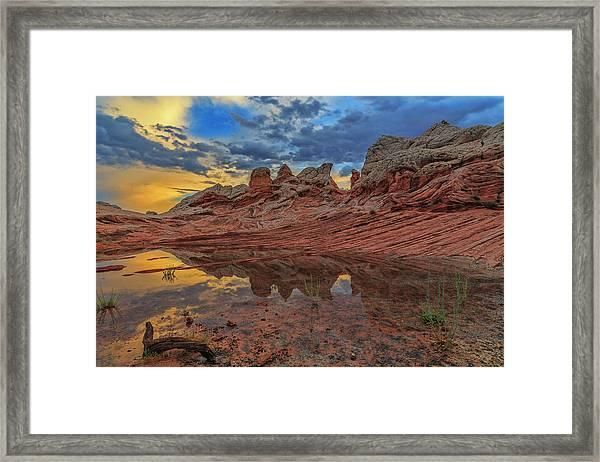 Sunset Reflections Framed Print