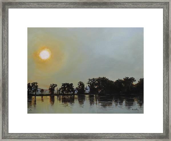 Sunset Ride Framed Print