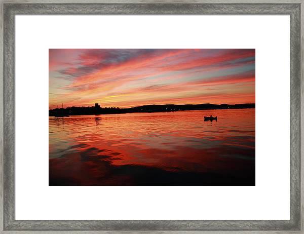 Sunset Row Framed Print