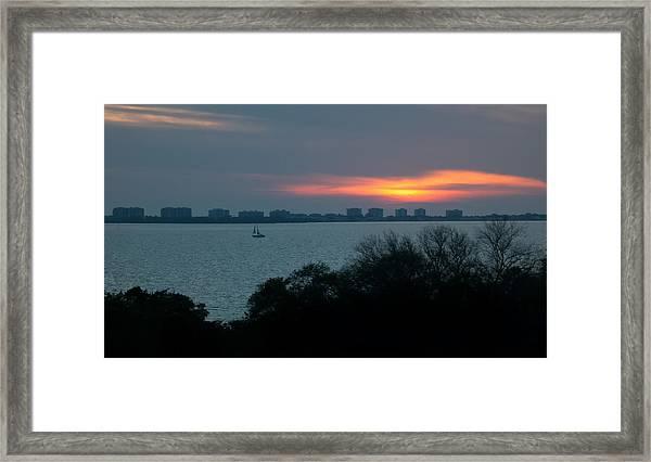 Sunset Sail On Sarasota Bay Framed Print