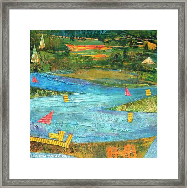 Sunset Sails 2 Framed Print