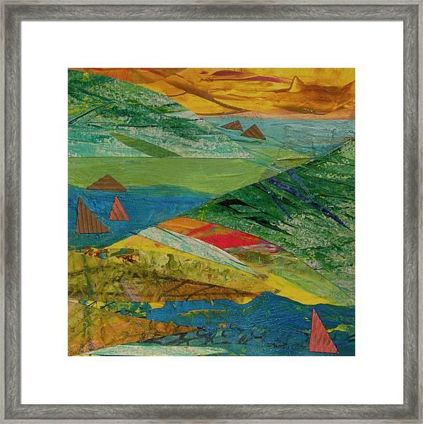 Sunset Sails 3 Framed Print