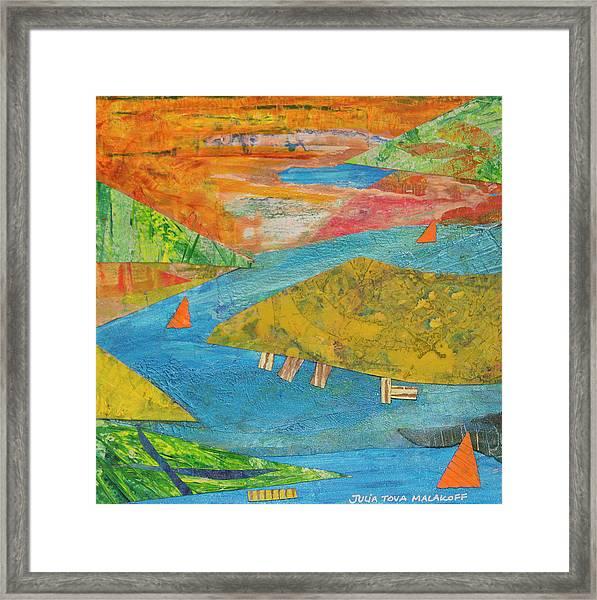 Sunset Sails 1 Framed Print