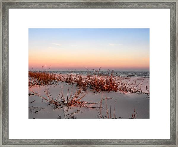 Sunset Sea Oats  Framed Print