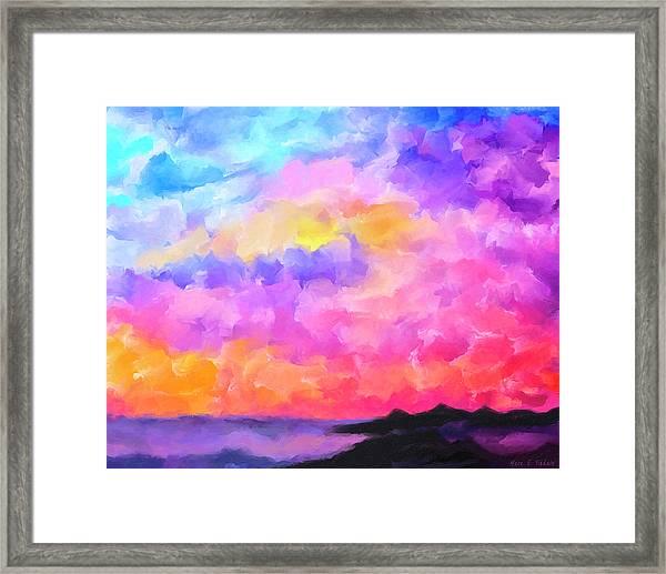 Sunset Serenade Memories Framed Print