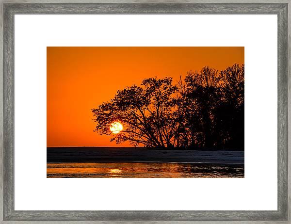 Sunset Sillouette Framed Print
