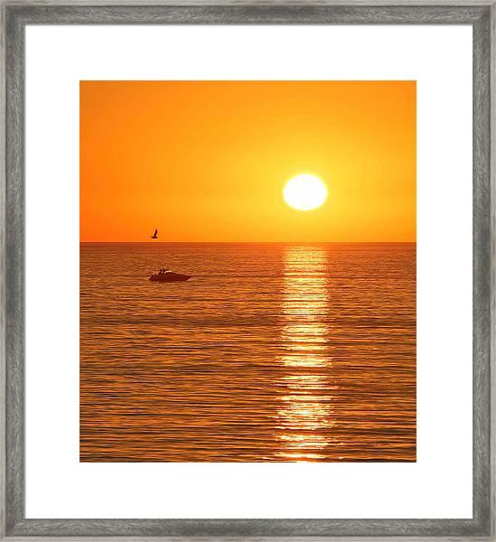 Sunset Solitude Framed Print