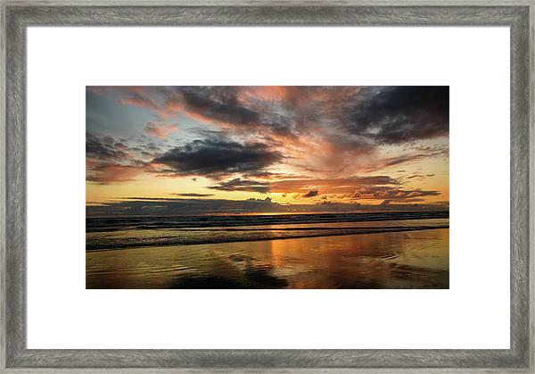 Sunset Split Framed Print