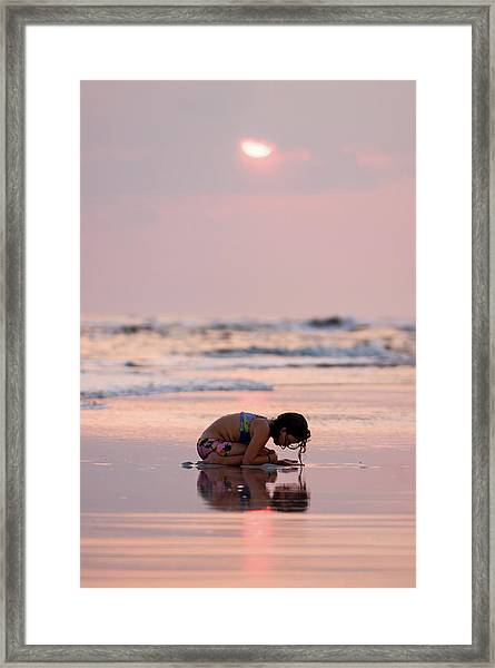 Sunset Surf Discovery Framed Print