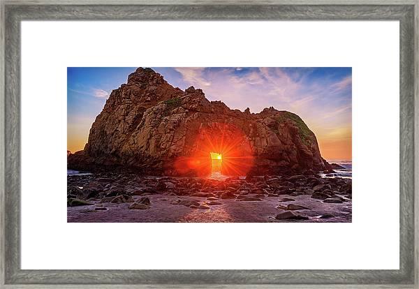 Sunset Through  Framed Print