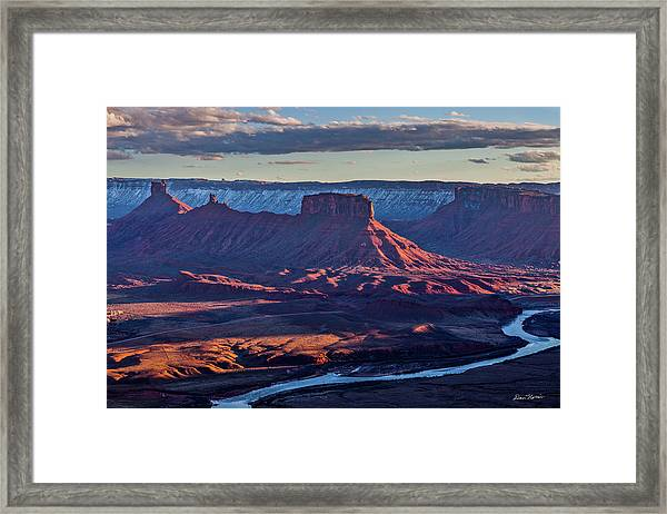 Sunset View From Omg Point Framed Print