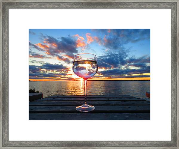 June Sunset On The River Framed Print