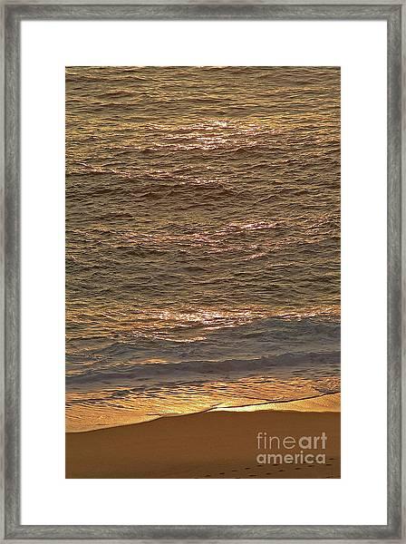Sunset Waves Over Carmel Beach Framed Print