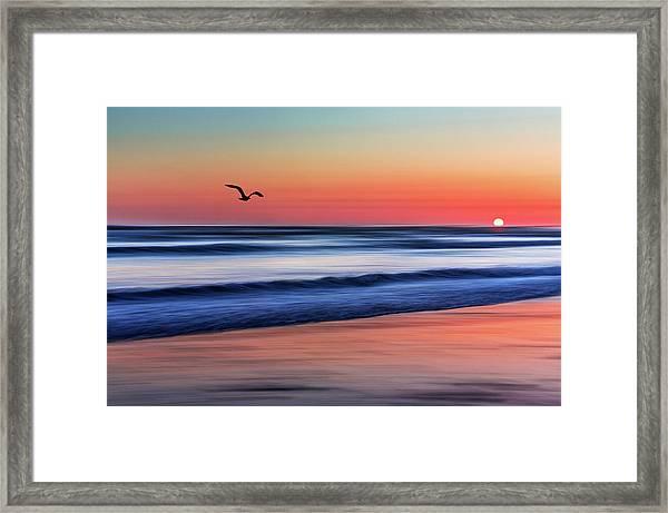 Sunset Widemouth Bay  Framed Print