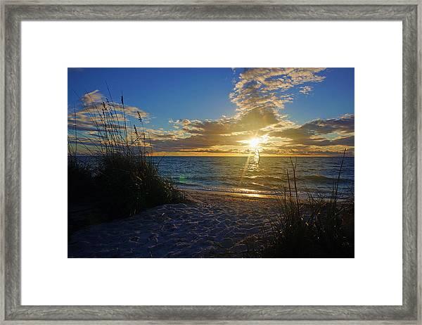 Sunset Windsurfer Framed Print