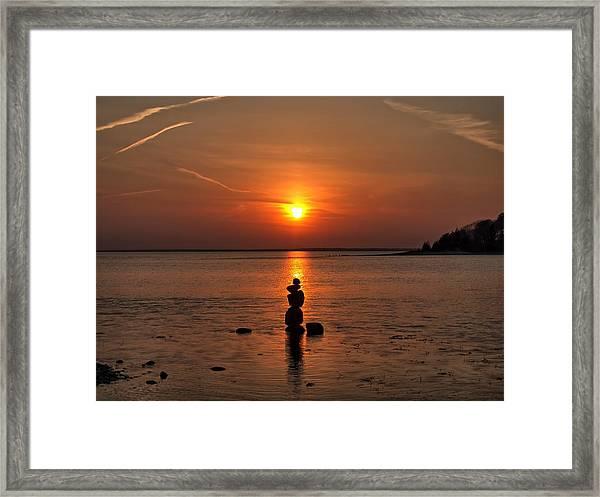 Sunset Zen Framed Print