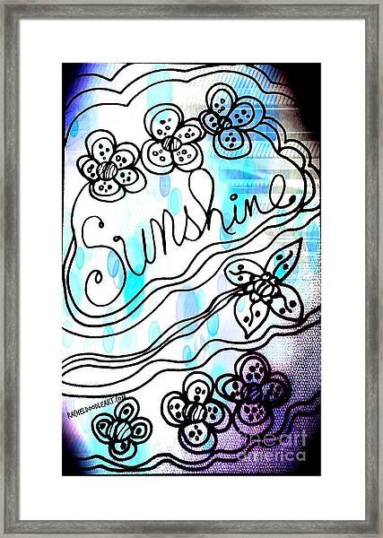 Framed Print featuring the drawing Sunshine by Rachel Maynard