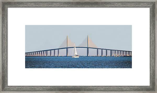 Sunshine Skyway Bridge #2 Framed Print