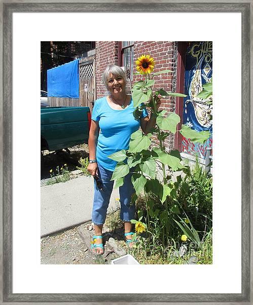 Sunshiny Hello From Marie Framed Print